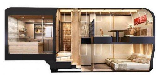 """Круизный поезд класса """"люкс"""" SHIKI-SHIMA (7 фото + видео)"""