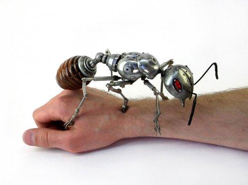 Скульптуры животных в стиле стимпанк (13 фото)