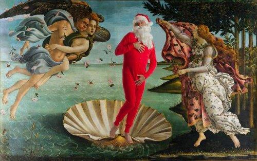 Санта-Клаус на картинах известных художников (19 фото)