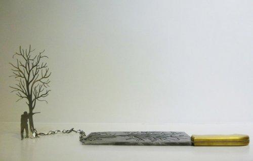Силуэты из лезвия ножа (12 фото)
