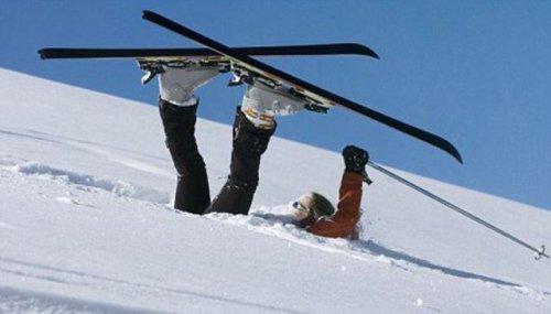 Фотоприколы про горнолыжников (26 фото + 1 видео)