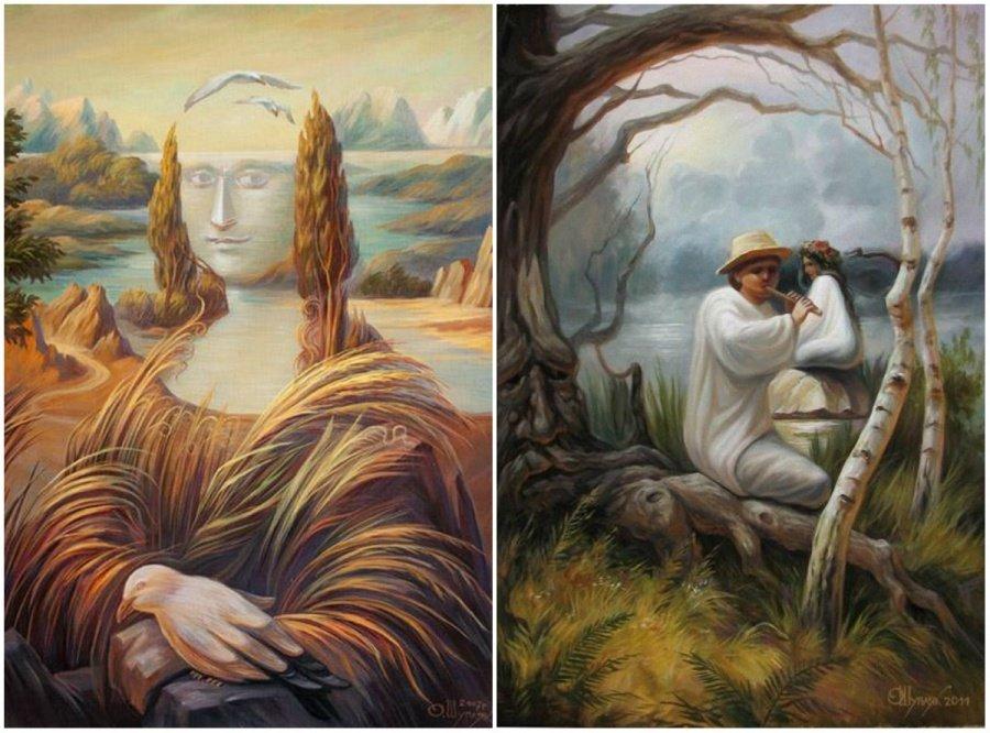 Интересные иллюзии в картинах художников