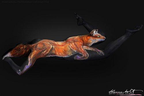Художница мастерски превращает людей в животных (9 фото)
