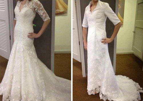 Ожидание vs. реальность: свадебные платья из Интернет-магазинов (27 фото)