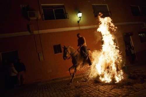 Ежегодное религиозное празднование «Луминариас» (12 фото)