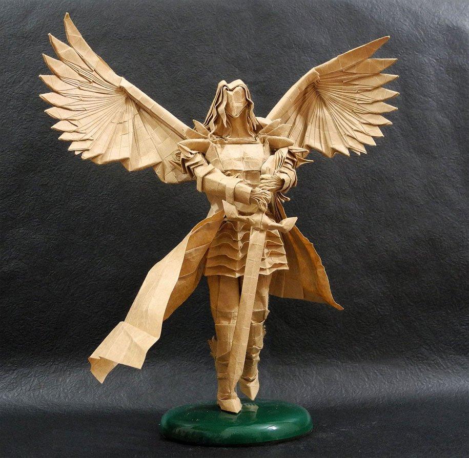 Как собрать оригами архангела адама трана схемы
