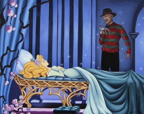 Знаменитые злодеи и диснеевские персонажи в серии иллюстраций DisHollywood (8 фото)