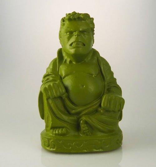 Супергерои в виде скульптур Будды, распечатанных на 3D-принтере (11 фото)