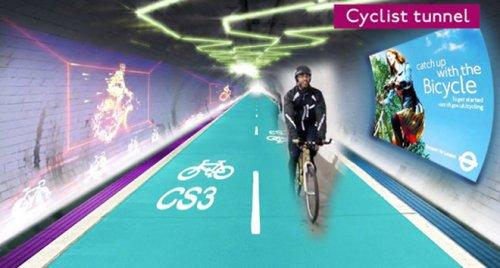 В Лондоне построят подземку для велосипедистов (7 фото)