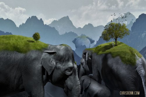Сюрреалистический мир Криса Бенна (10 фото)