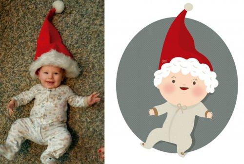 Забавные иллюстрации из детских фотографий (17 фото)