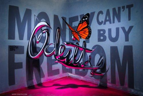 Анаморфные 3D-граффити Серхио Одейта (21 фото)