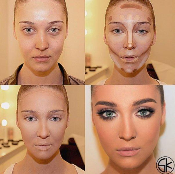 снова макияж лица пошаговое фото в домашних условиях вам