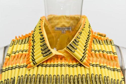 Дизайнерская одежда из мелков Crayola (8 фото)