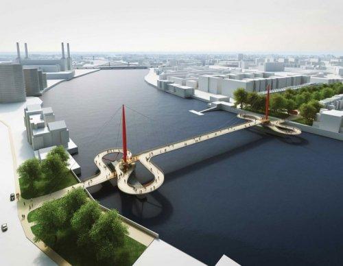 В Лондоне выбирают проект нового пешеходного моста (13 фото)