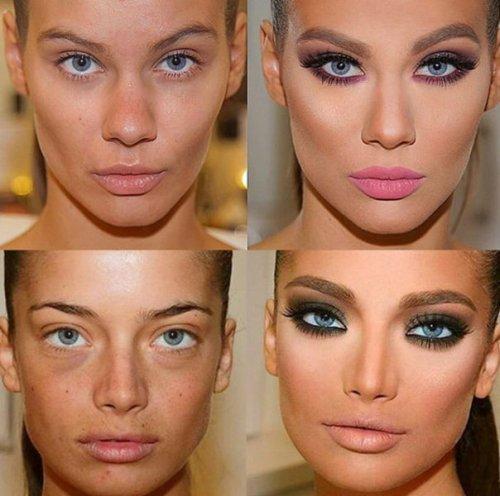 Как меняет лицо макияж