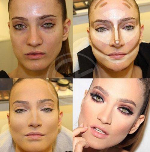 Как умело наложенный макияж меняет внешность (20 фото)