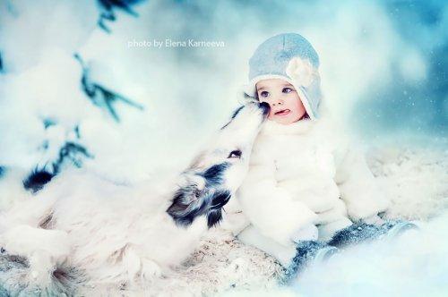 Дети и животные в очаровательных снимках Елены Карнеевой (22 фото)