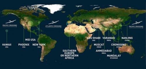 Solar Impulse 2 отправился в кругосветное путешествие (8 фото)