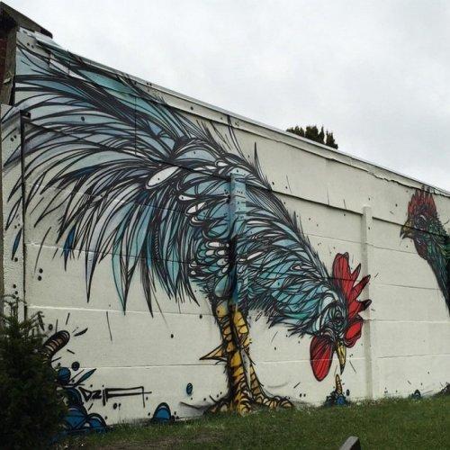 Стрит-арт бельгийского уличного художника Dzia (9 фото)