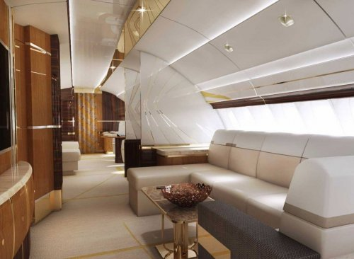 Роскошный частный самолёт Boeing 747-8 VIP (11 фото)