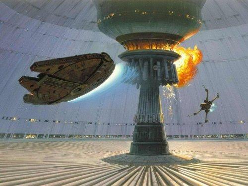 """Концепт-арт для """"Звёздных войн"""" от Ральфа Маккуорри (36 фото)"""