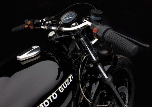 Мотоцикл Diabola V65C на базе раритетного Moto Guzzi (11 фото)