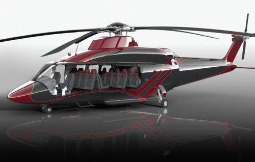 Вертолёт Bell 525 Relentless с роскошным интерьером (11 фото)