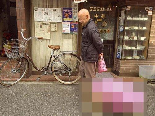 Самый терпеливый человек на свете гуляет со своим питомцем по улицам Токио (4 фото)