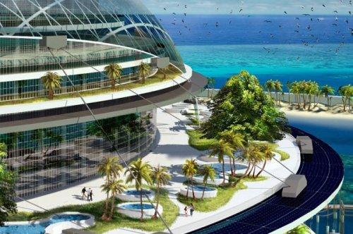 Уникальный эко-остров будущего Grand Cancun (13 фото)