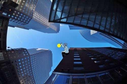 Томас Ламадьё: художник, разрисовывающий небо (13 фото)