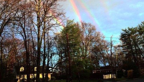 Четверная радуга над Нью-Йорком (фото + видео)