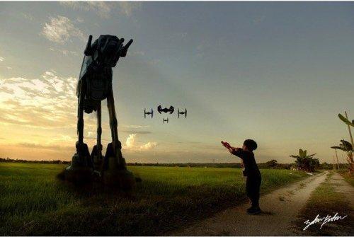 """Сюрреалистический мир """"Звёздных войн"""" в фотографиях Захира Батина (7 фото)"""