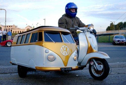 Необычные мотоциклы с колясками (10 фото)