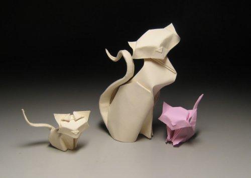 Оригами по технике мокрого складывания, которые создаёт Хоан Тиен Куит (7 фото)