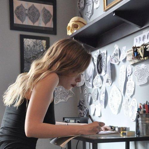 Геометрические татуировки художницы Bicem Sinik (32 фото)