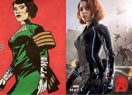 Мстители в комиксах и фильмах (10 фото)