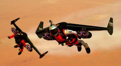 Полёт над Дубаем на реактивном ранце (4 фото + видео)
