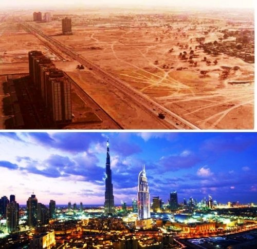 Топ-25: Фотографии городов из прошлого и настоящего, которые поразят ваше воображение