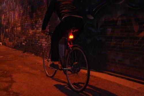 Сигнальная лампа на велосипед в виде яичек (3 фото + видео)