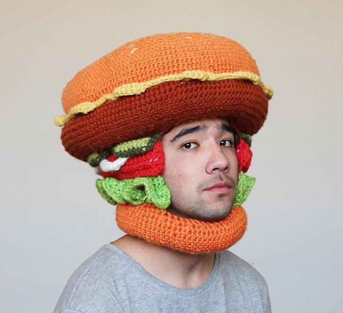 Вязаные шапки креативно фото