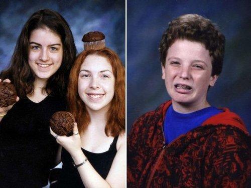 Смешные школьные фотографии (19 фото)