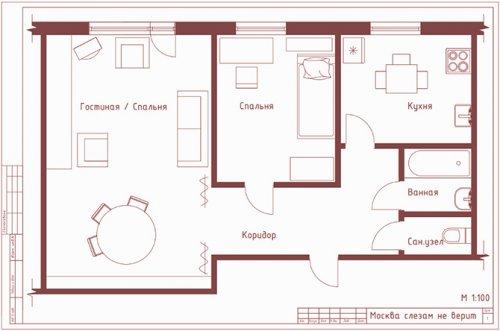 Легендарные советские фильмы: интерьеры и планировка квартир (12 фото)