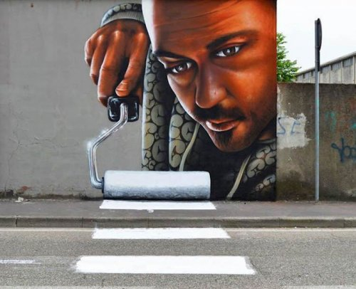 Интерактивный стрит-арт итальянского художника Каиффа Козимо (6 фото)