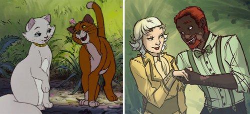 Диснеевские животные-персонажи в образе людей (15 фото)