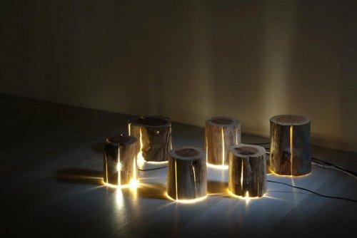 Оригинальные лампы из дерева от полуслепого дизайнера Дункана Мирдинга (10 фото)