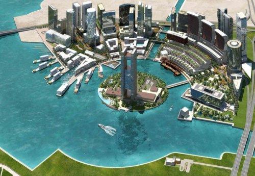 В Бахрейне возводят многоэтажную башню в форме сверла (5 фото)