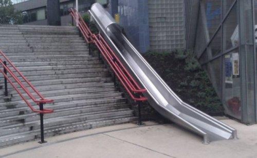 Лестницы с горками (10 фото)