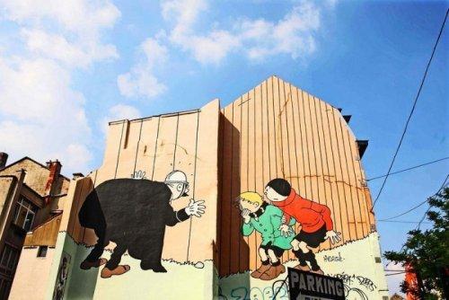 Комикс-арт на улицах Бельгии (17 фото)