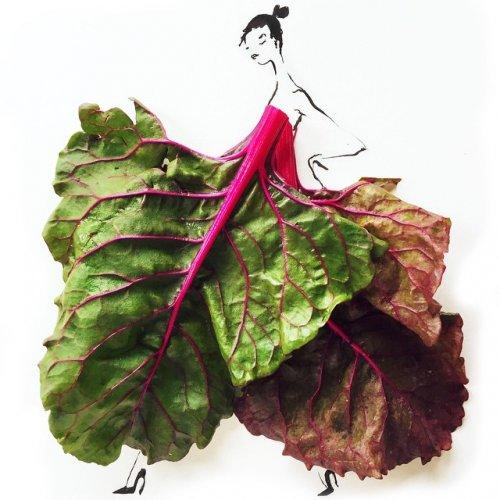 Модные силуэты из продуктов питания (11 фото)